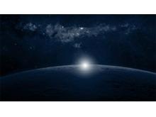 太阳升起的星球PPT背景图片