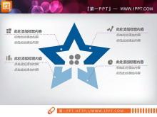蓝色商业融资计划书PPT图表