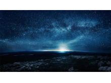 唯美蓝色星空PPT背景图片