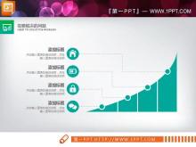 绿色扁平化商务PPT图表免费tt娱乐官网平台