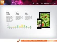 绿色生鲜背景健康饮食PPT图表