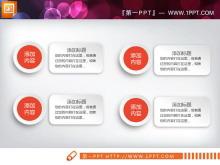 橙色微立体年终工作总结PPT图表下载