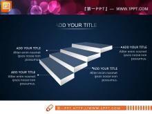 白色透明商务PPT图表整套下载