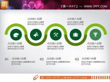 绿色扁平化工作总结汇报PPT图表整套下载