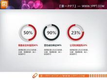 红黑微立体企业简介PPT图表大全
