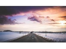 雪地的马路m88.com图片