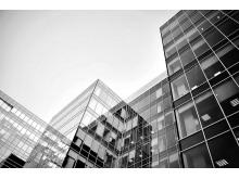 黑白现代化商务建筑PPT背景图片