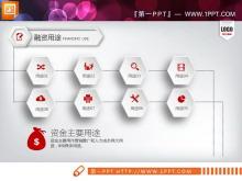 红色微立体创业融资计划书PPT图表大全