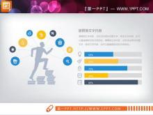蓝黄扁平化商务PPT图表下载