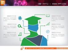 绿色扁平化商务PPT图表大全
