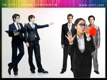 6张职场商务人物PPT插图素材