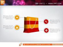 红橙扁平化时尚PPT图表大全