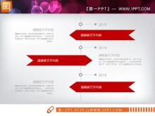 红色扁平化商务幻灯片图表免费下载