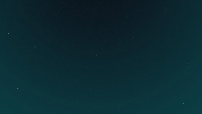 绿色简洁星空PPT背景图片免费下载