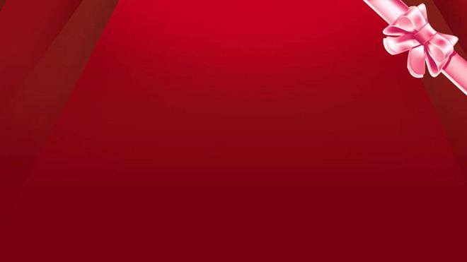 动态红色彩带PPT背景图片