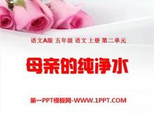 《母亲的纯净水》PPT课件5
