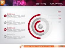 红灰扁平化商务总结汇报PPT图表大全