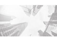 四张灰色商业建筑写字楼PPT背景图片