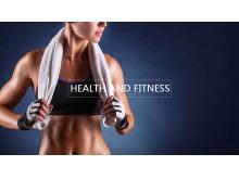 健身房健身运动PPT模板