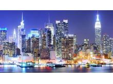 现代化城市夜景PPT背景图片