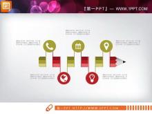 红绿扁平化PPT图表大全