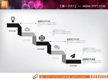 黑色扁平化PowerPoint图表整套下载