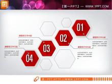 红色微立体金融理财投资PPT图表大全
