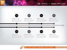 黑色艺术时尚PPT图表大全