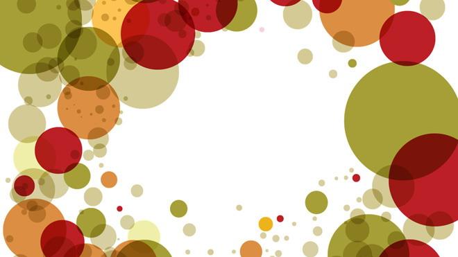 彩色圆点艺术时尚PPT背景图片免费下载