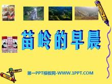 《苗岭的早晨》PPT课件2