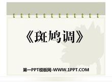 《斑鸠调》PPT课件