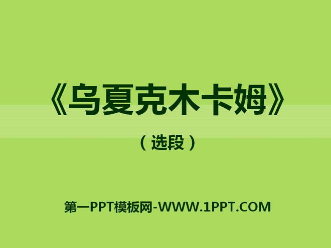 《乌夏克木卡姆》PPT课件3