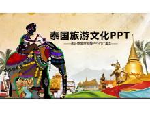 彩色泰国旅游PPT模板免费下载