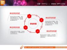红色极简公司简介PPT图表免费下载