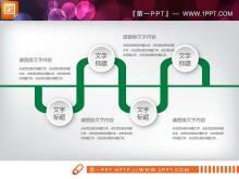 绿色扁平化商务汇报PPT图表免费下载