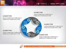 蓝灰扁平化商务PowerPoint图表整套下载