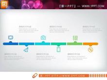 蓝色清新扁平化商务汇报PPT图表大全
