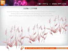 清新植物点缀的文艺艺术PPT图表大全