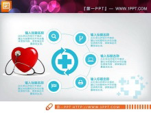 蓝色扁平化医疗医学PPT图表免费下载