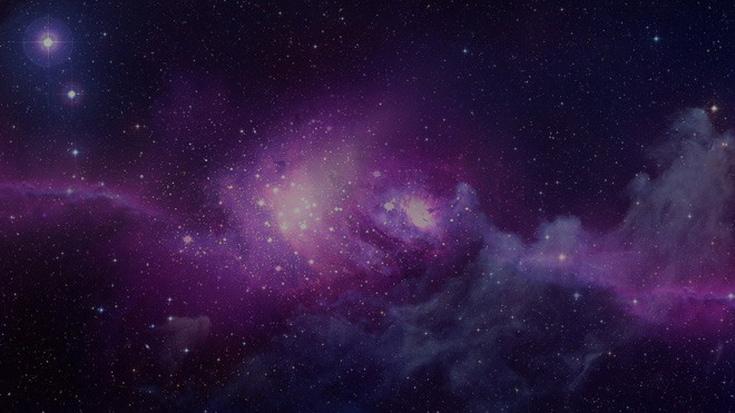紫色星空唯美PPT背景图片