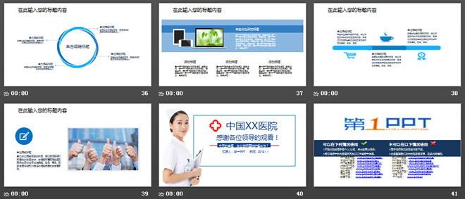 医院医疗医生护士工作总结PPT模板