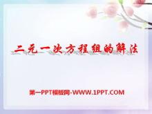 《二元一次方程组的解法》PPT课件2