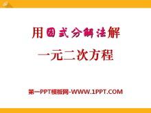 《用因式分解法解一元二次方程》PPT课件2