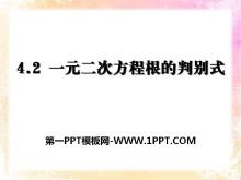《一元二次方程根的判别式》PPT课件2