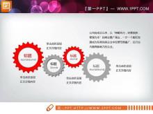 红灰扁平化商务演示PPT图表免费tt娱乐官网平台