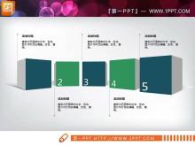 绿色扁平化商务PowerPoint图表大全