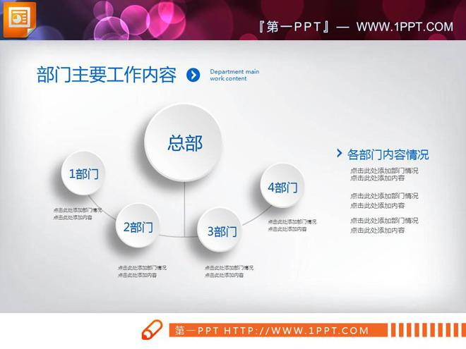 蓝色微立体商务总结汇报PPT图表大全