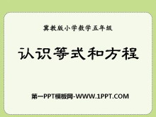 《�J�R等式和方程》方程PPT�n件
