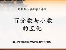 《百分数与小数的互化》百分数PPT课件