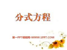 《分式方程》PPT课件2